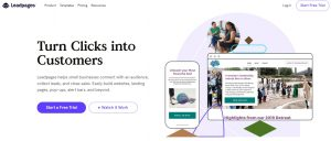 Screenshot of Leadpages homepage