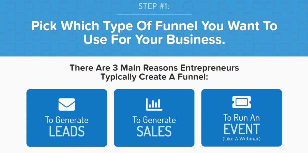 Screenshot of what Clickfunnels does