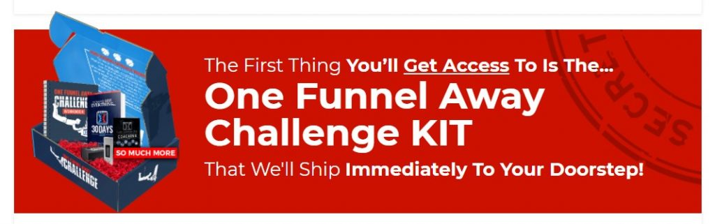 Screenshot of the One Funnel Away Challenge Kit