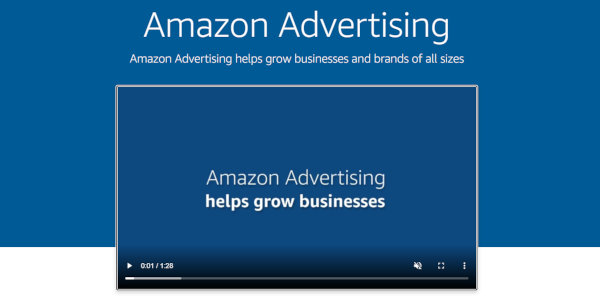 Homepage of Amazon Ads.