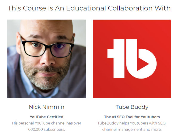 The collaborators of the YouTube Accelerator course.