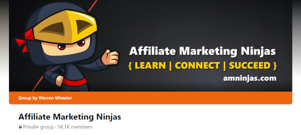 The cover image of the Affiliate Marketing Ninjas.
