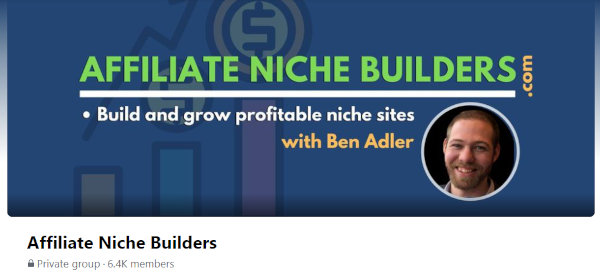 The cover image of the Affiliate Niche Builders.