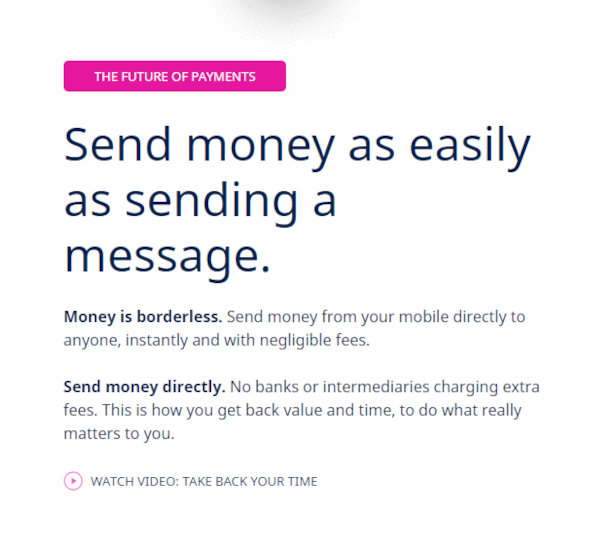 The main goal of Maiar is to make sending money as easy as sending a message.
