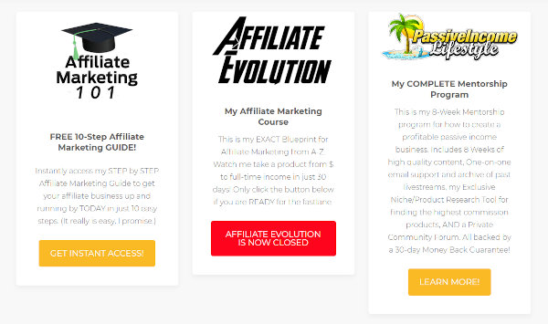 Affiliate marketing courses offered by ODi Productions.