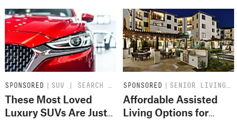 An example of search arbitrage ads.