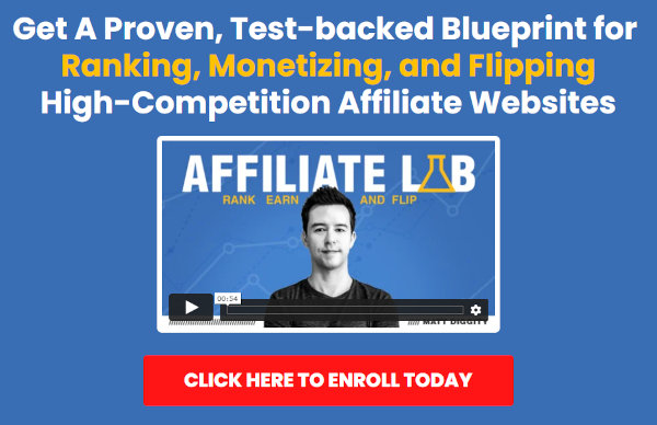 Homepage of Affiliate Lab.