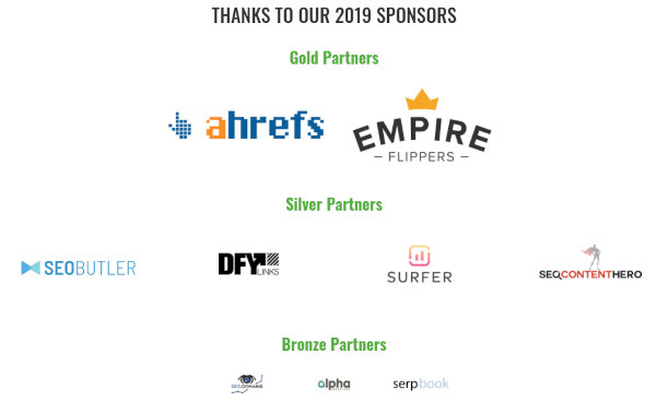 Sponsors of the Chiang Mai SEO Conference.