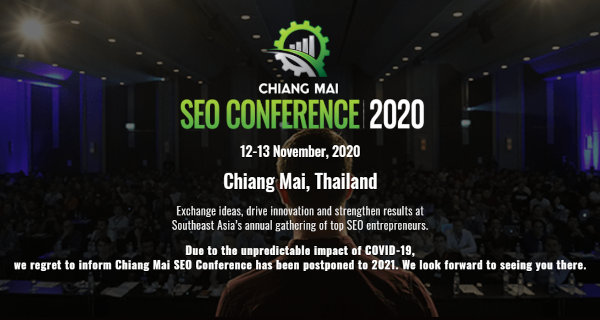 Homepage of Chiang Mai SEO Conference.