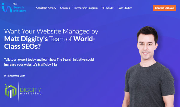 Homepage of The Search Initiative