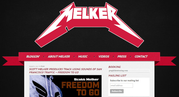 The homepage of Melker's music-related blog.
