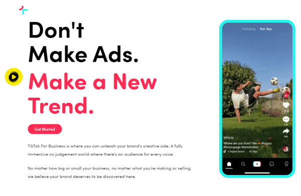 Brands may use the TikTok ads platform to promote their businesses.