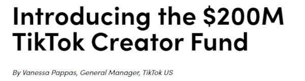 The Creator Fund is one of the ways to make money on TikTok.