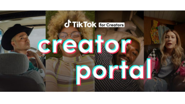The homepage of the TikTok Creator Portal.