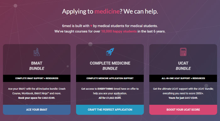 The homepage of 6med.
