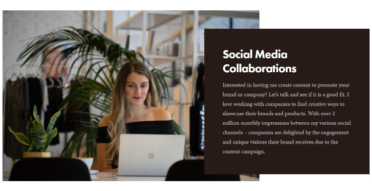 Thompson is open for social media collaboration.