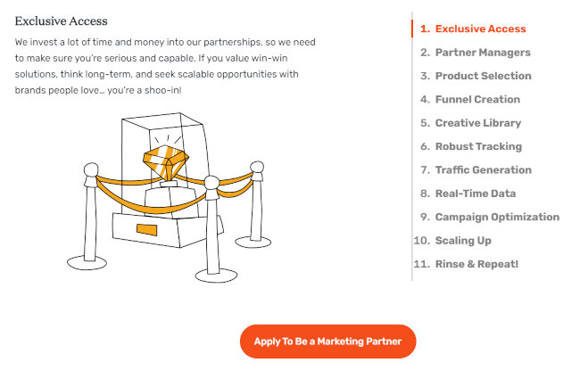Tools available to marketers.