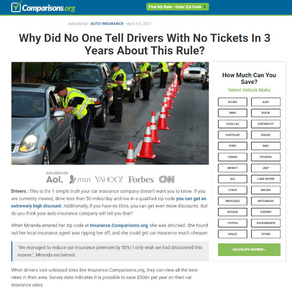 An example of an advertorial.