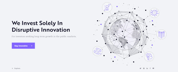 ARK Invest's homepage.