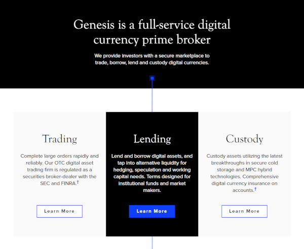 Features of the Genesis platform, which is connected to Barry Silbert.