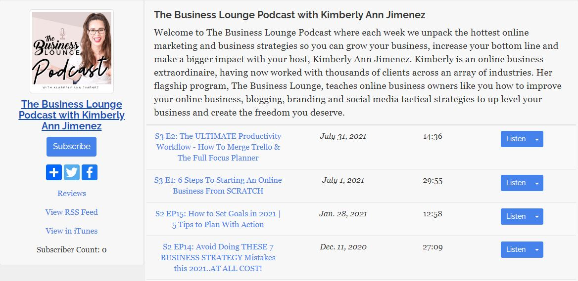 The Business Lounge Podcast