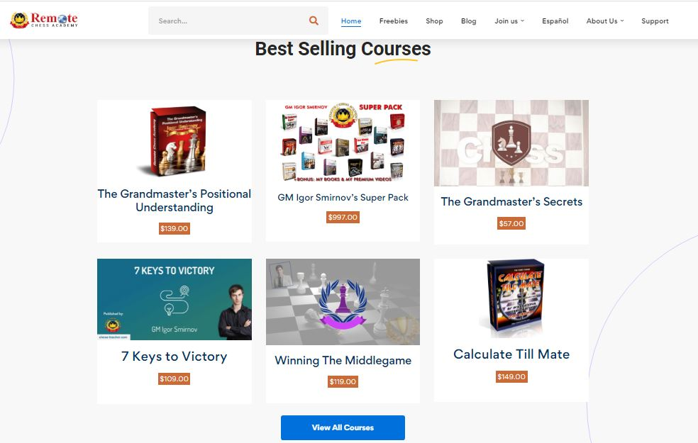 Remote Chess Academy Courses