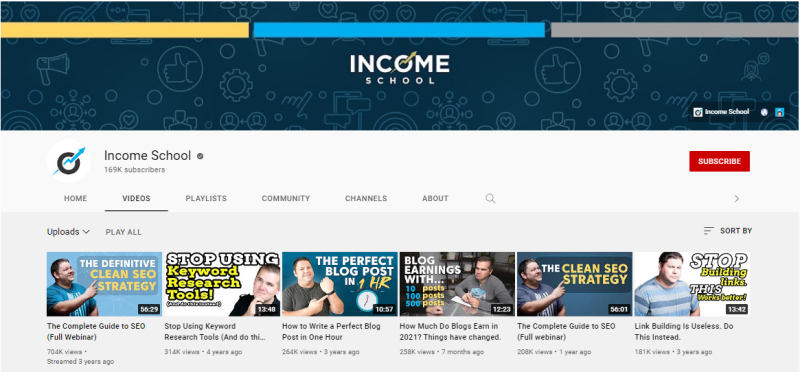 Income School YouTube Channel