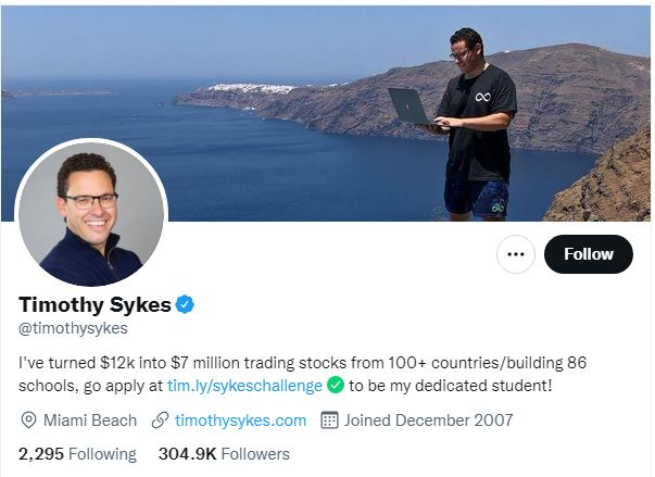 Timothy Sykes Twitter